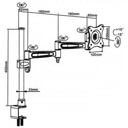 MONITORI LAUAKINNITUS MC-628