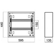 PINDPAIGALDUSEGA JAOTUSKILP 48-LE MOODULILE LE-337202 XL sup 3 /sup S 160 LEGRAND